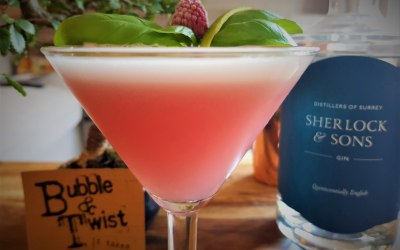 Rasberry and basil Cover club cocktail