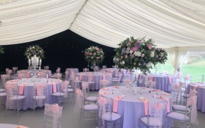 Dress your marquee to suit any theme