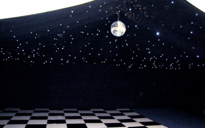 Add a bit of sparkle with a mirror ball and starlight lining