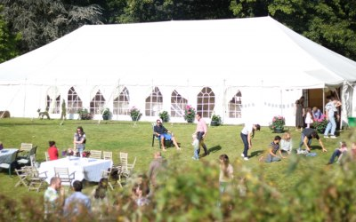 Traditional Marquee for a summer wedding