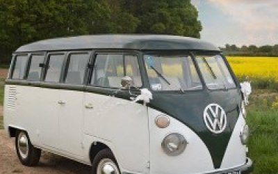 Split screen camper Wedding transport and photo booth Norfolk and Suffolk.