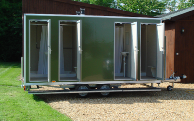 Mobile Shower Unit and Trailer for hire