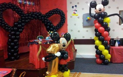 Mickey mouse first birthday decoration.
