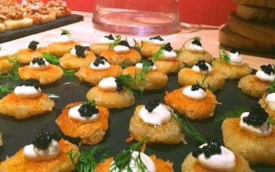 Potato rosti, creme fraiche, caviar