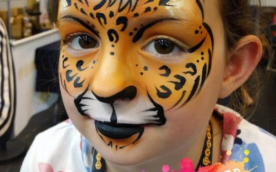 Facepaint, face paint, Leopard, Cheetah, kids, entertainment, Birmingham,