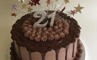 Chocolate 21st Cake
