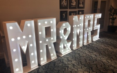 White, Floral & Rustic Light Up Letters