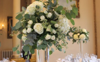 Tall floral vase displays