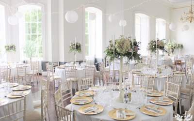 Beautiful ivory candelabra centrepieces