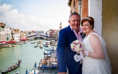 Venice Registry Office Wedding overlooking the canal