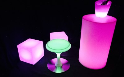 LED Cubes and tables