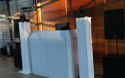 DJ booth and podiums, aslo available in black