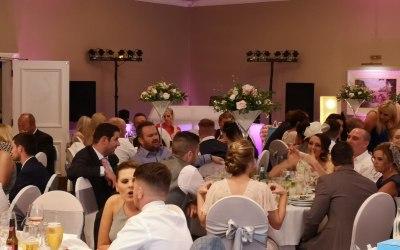Intimate set up at a wedding