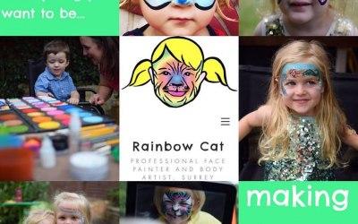 Rainbow Cat Face Painting
