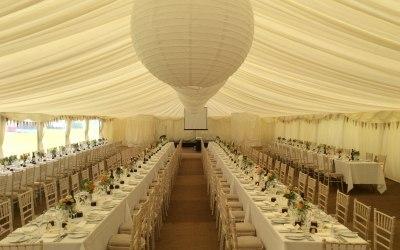 Elegant  wedding setting up