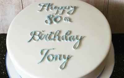 Victoria Sponge Iced 80th Cake