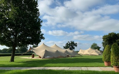 2 tents for a private party