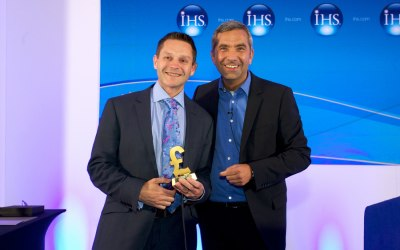 Awards ceremony at sales conference for IHS Global