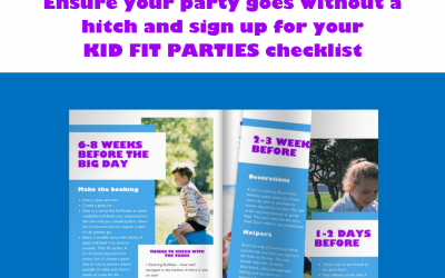 Our Kid Fit Party checklist to help your day run smoothly