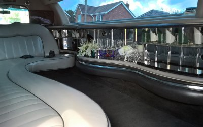 stretched limousine interior