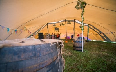 Stretch Tent White Rose Tents