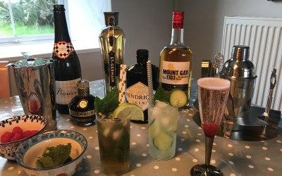 Wedding prep cocktail tasting!
