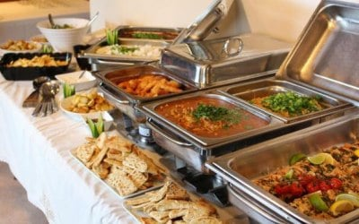 Hot food selection