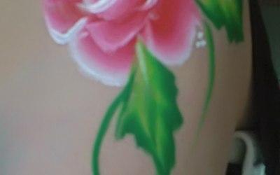 One stroke roses