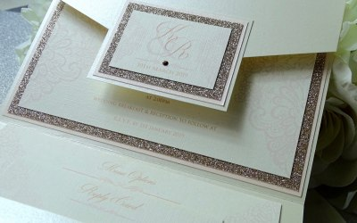 Karen pocketfold invitation
