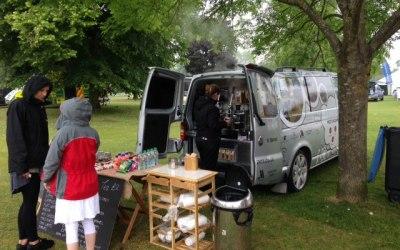 Branded corporate coffee van service