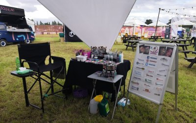 Typical set up for outdoor events