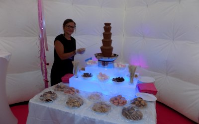 Indulging chocolate fountain perfect for special occasions
