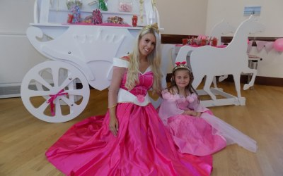 Princess Aurora at a birthday party