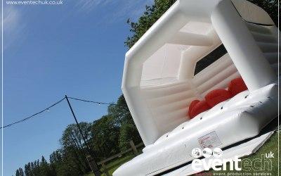 Jumbo White Wedding Bouncy Castle Hire