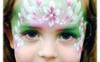 Chameleon Face Painting