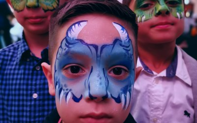 Chameleon Face Painting 5