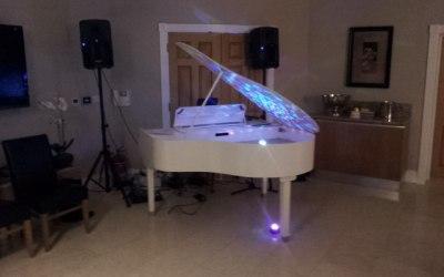 My white grand piano shell