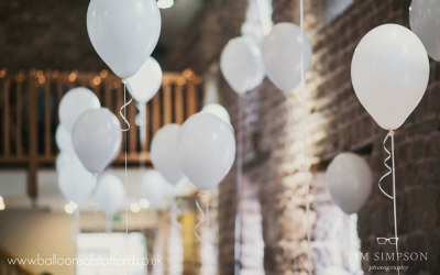 Wedding balloons at The Ashes Endon, Staffordshire