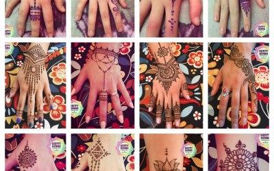 Natural Henna and glitter henna