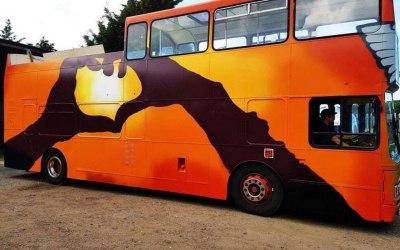 Persian open top bus!