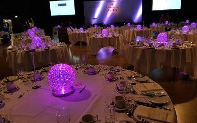LED illuminated crystal globes