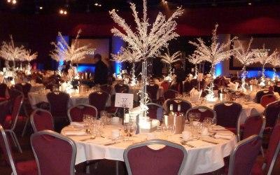 crystal trees at Telford Arena