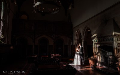 Bride and Groom portrait at St Audries Park