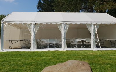 Our 4m by 8m classic marquee