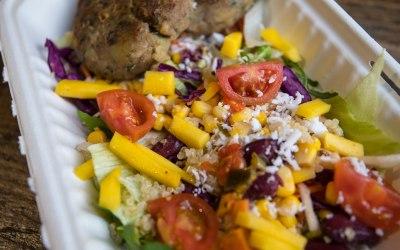 Jerk Spiced Saltfish Cake Tropical Salad