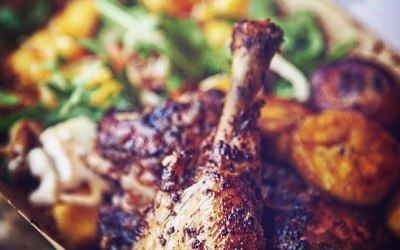 Jerk Chicken Leg Tropical Salad