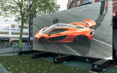 Outdoor Modular Screen Leicester Square