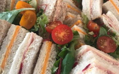 Assorted of sandwiches in white and brown bread