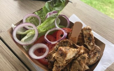 Chicken breast grilled marinated and served with salad which can also be served in a bun or sandwich baguette with homemade coleslaw, tomato, lettuce and sauces