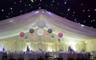 Marquee wedding for 200 guests